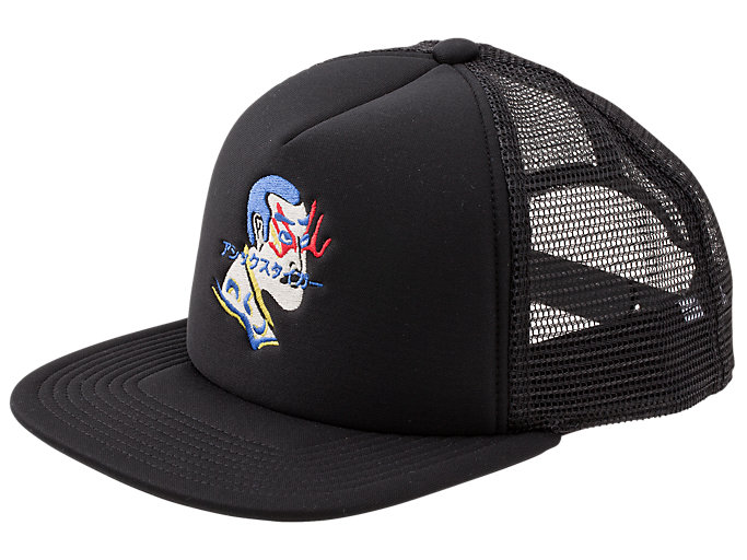 Front Top view of BACK MESH CAP, PERFORMANCE BLACK