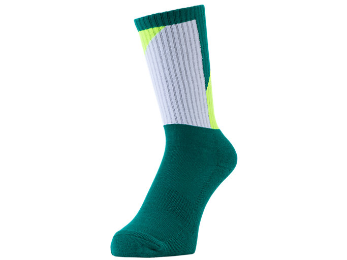 Front Top view of GEL-LYTE III SOCKS, PITCH GREEN