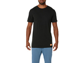 Front Top view of PREMIUM TEE, BLACK