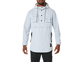 Front Top view of PREMIUM JACKET, GREY
