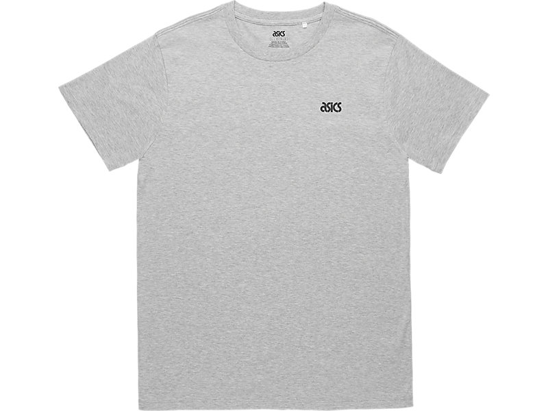 ASICS SMALL LOGO TEE Heather Grey 1 FT