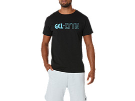 Front Top view of GRAPHIC TEE 3, BLACK/BLUE