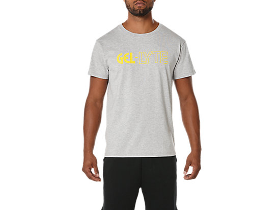 GRAPHIC TEE 3, HEATHER GREY/YELLOW