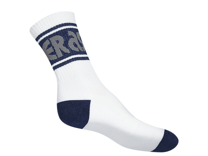 SOCKS WHITE/ HEATHER GREY 9 BK