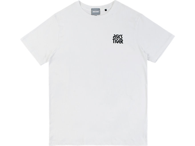 Front Top view of SMALL LOGO TEE, WHITE