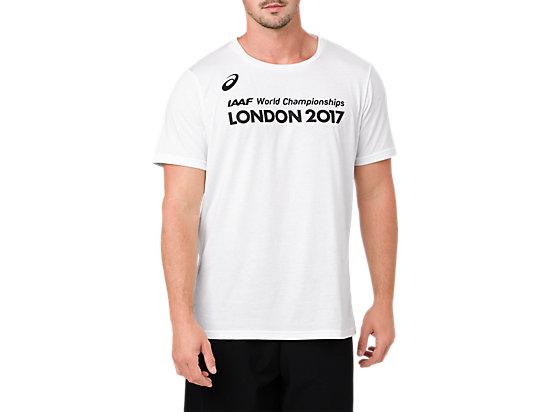 GRAPHIC TEE(Front Logo IAAF):M's, ホワイト