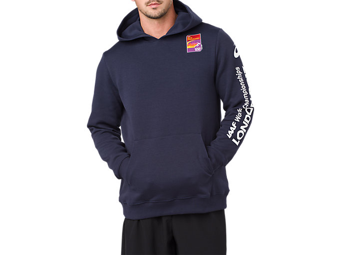 PULL OVER HOODIE, NAVY