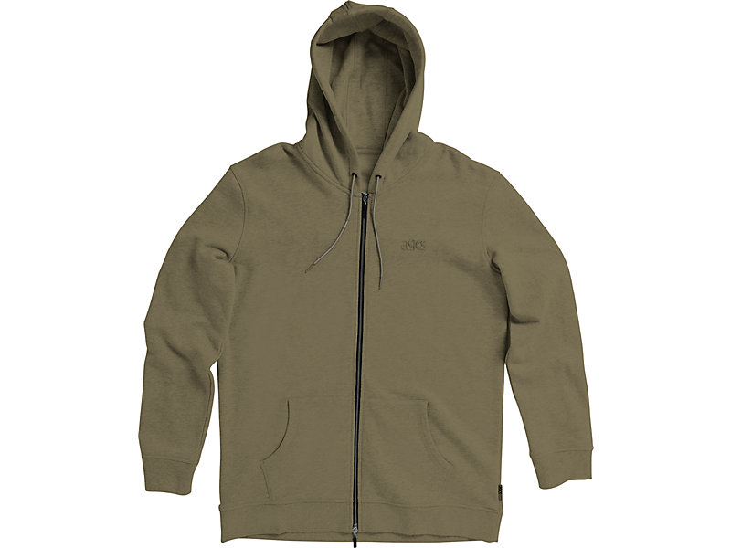 CLASSIC ZIP-UP HOODIE Olive 1 FT