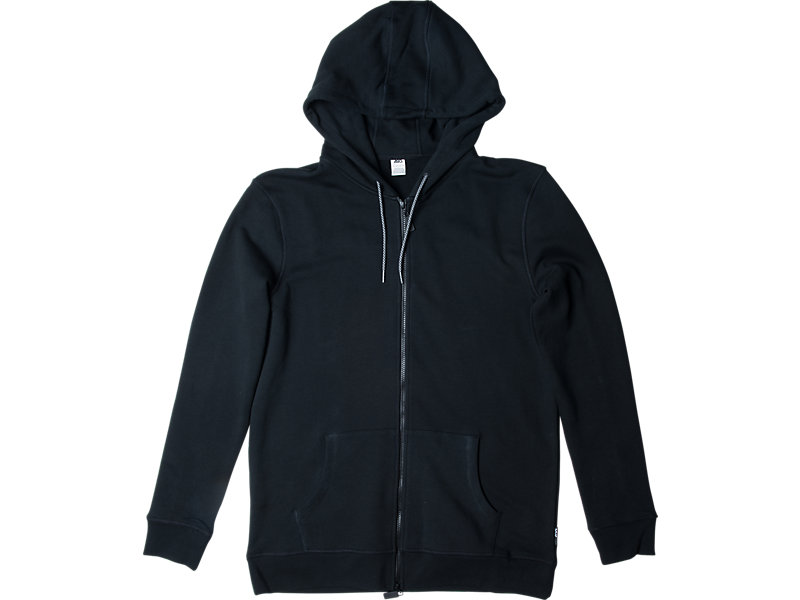 CLASSIC ZIP-UP HOODIE BLACK 1 FT