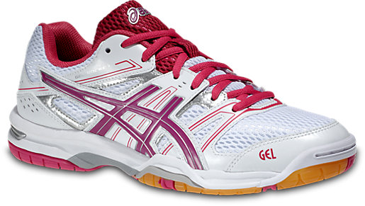 Asics Womens White Fuchsia Gel rocket 7 Multi court shoes Magenta