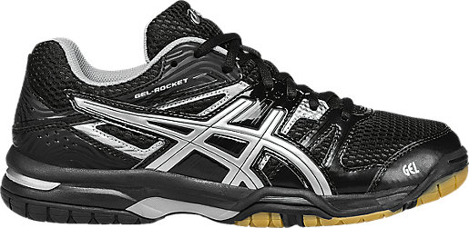 Asics Womens Silver Gel rocket 7 Multi court shoes Onyx