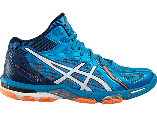GEL-VOLLEY ELITE 3 MT BLUE JEWEL/WHITE/HOT ORANGE 3