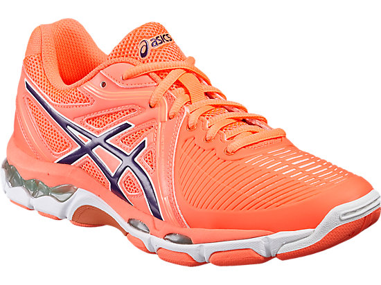 GEL-NETBURNER BALLISTIC pour femmes FLASH CORAL/PARACHUTE PURPLE/COCKATOO 7
