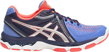 Design Womens Columbia Blue Silver Navy Volleyball Shoes