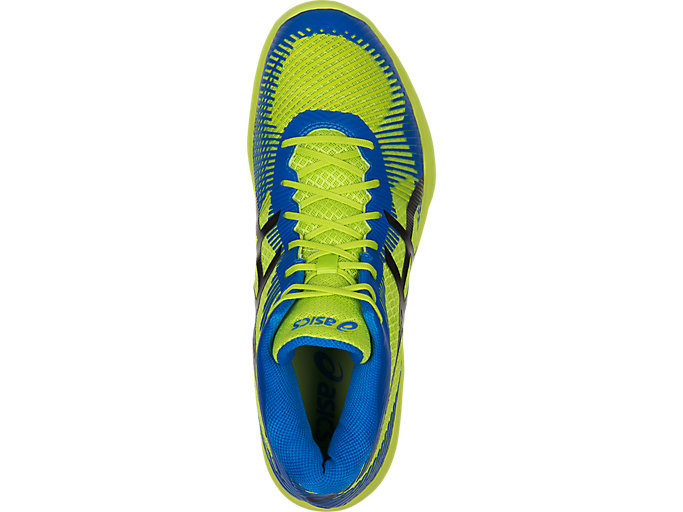 Top view of VOLLEY ELITE FF MT, ENERGY GREEN/DIRECTOIRE BLUE/BLACK