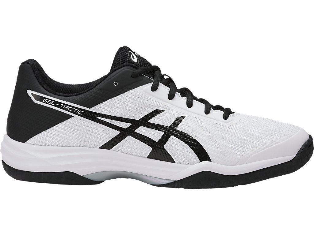 Asics Mens Gel-Tactic Indoor Court Shoes Red White Sports Breathable Trainers