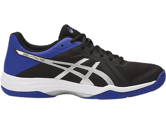 GEL-TACTIC BLACK/ASICS BLUE/SILVER