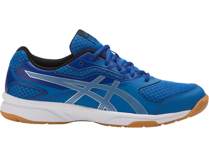 Right side view of UPCOURT 2, CLASSIC BLUE/SILVER/ASICS BLUE