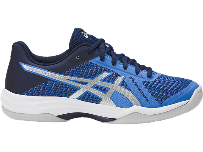 Right side view of GEL-TACTIC, REGATTA BLUE/SILVER/INDIGO BLUE
