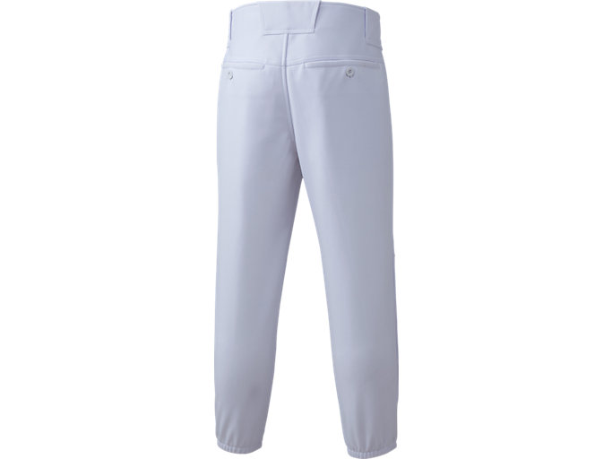 Back view of NEOREVIVE ネオリバイブ 楽白(らくしろ) 練習用 ズボン レギュラー 少年用, ホワイト