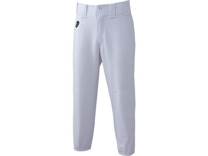 Front Top view of NEOREVIVE ネオリバイブ 楽白(らくしろ) 練習用 ズボン レギュラー 少年用, ホワイト
