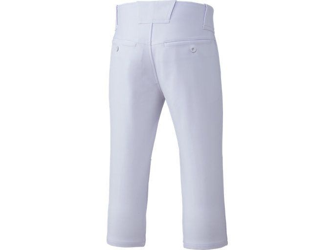 Back view of NEOREVIVE ネオリバイブ 楽白(らくしろ) 練習用 ズボン ショートフィット 少年用, ホワイト