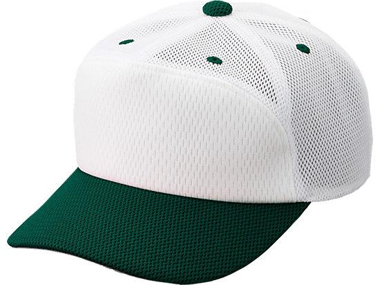 プラクティスキャップ, ホワイトxD/グリーン