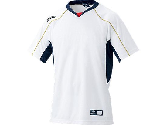 プラクティスシャツ, ホワイト×ネイビー