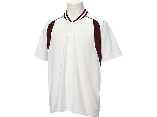 ベースボールシャツ, ホワイト×バーガンディ