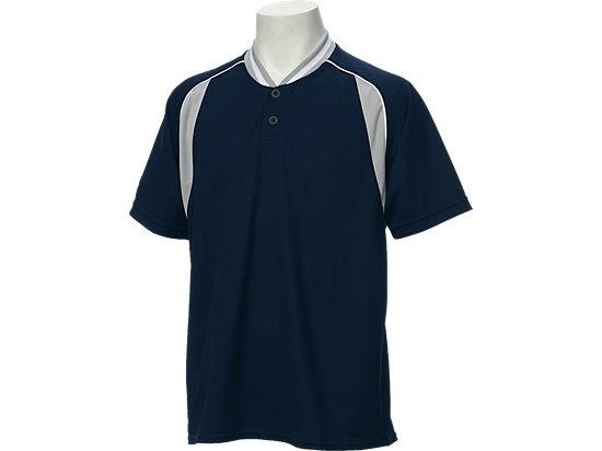 ベースボールシャツ, ネイビー×シルバー