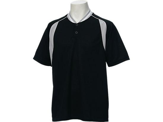 ベースボールシャツ, ブラック×シルバー