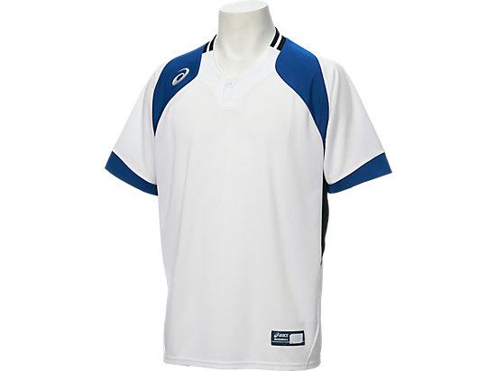 ベースボールシャツ, WHITE/DIRECTOIRE BLUE/FIERY RED