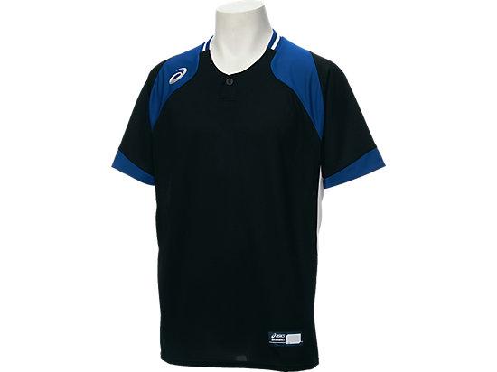 ベースボールシャツ, BLACK/DIRECTOIRE BLUE/BLACK