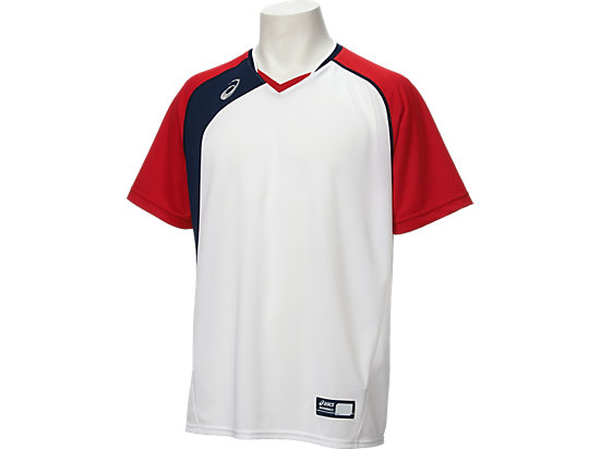 ベースボールシャツ, ホワイトxレッド