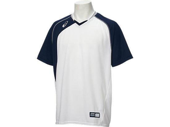 ベースボールシャツ, ホワイト×ネイビー