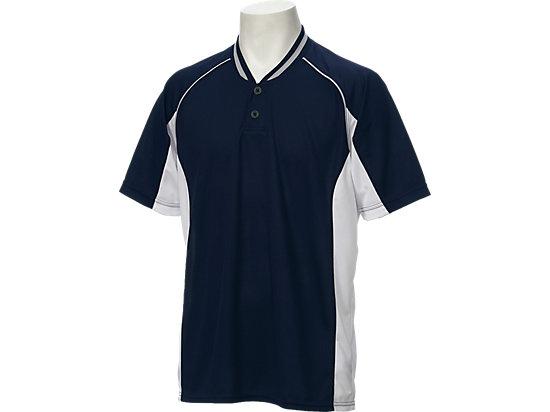 ベースボールシャツ, ネイビーブルー×ホワイト