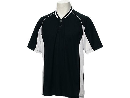 ベースボールシャツ, ブラックxホワイト