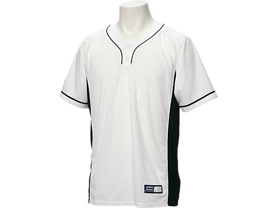 ベースボールシャツ, ホワイトxブラック