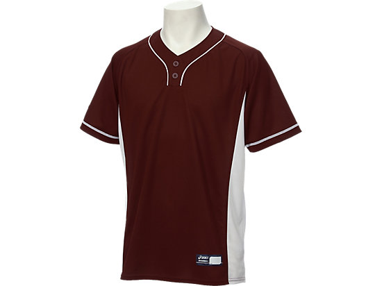ベースボールシャツ, エンジxホワイト