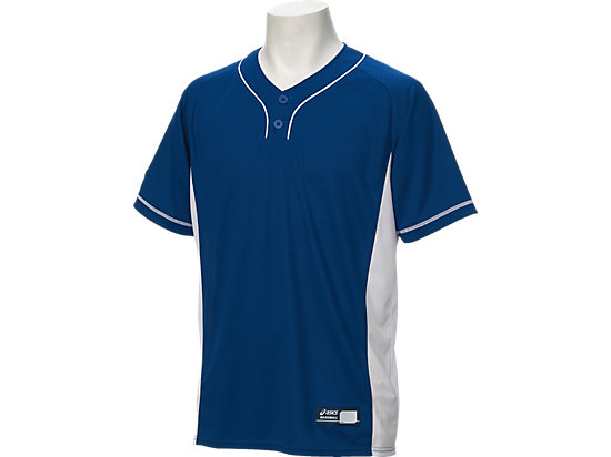 ベースボールシャツ, ロイヤル×ホワイト