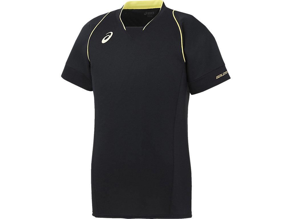 [ゴールドステージ]ブレードシャツ:ブラック×ブラックn肩ステッチカラーnイエロー