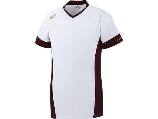 [ゴールドステージ]ブレードシャツ, ホワイト×バーガンディ