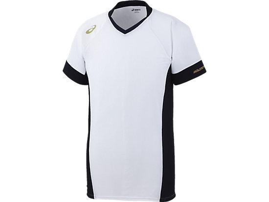 [ゴールドステージ]ブレードシャツ, ホワイト×ネイビー