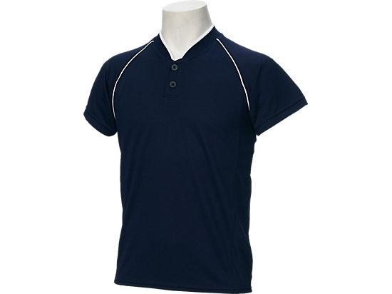 Jr.ベースボールシャツ, ネイビーブルー×ネイビーブルー