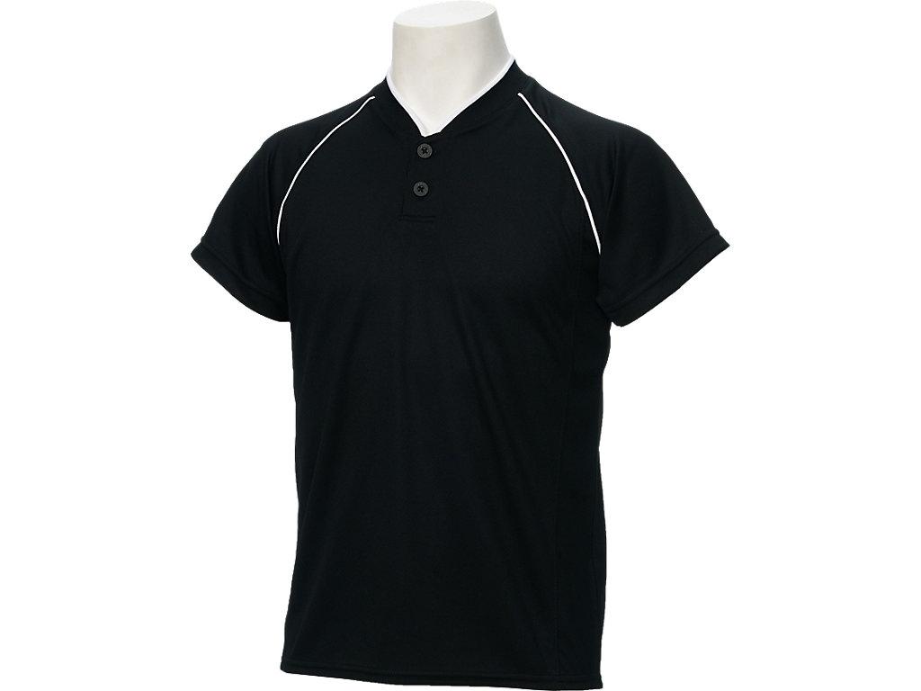 Jr.ベースボールシャツ:ブラックxブラック
