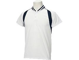 Jr.ベースボールシャツ, ホワイト×ネイビー
