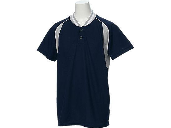 Jr.ベースボールシャツ, ネイビー×シルバー