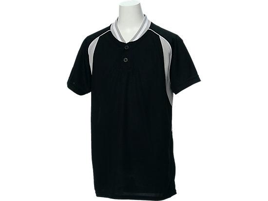 Jr.ベースボールシャツ, ブラック×シルバー