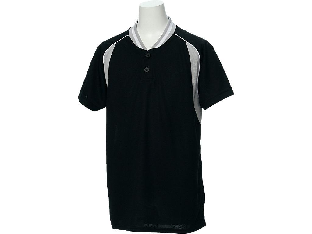 【ASICS/アシックス】 Jr.ベースボールシャツ ブラックxS/グレー キッズ_BAD12J