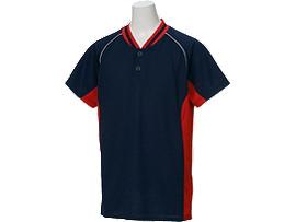 Jr.ベースボールシャツ, ネイビー×レッド